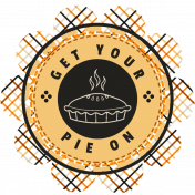 It's A Pie Time: Word Art Badge 02