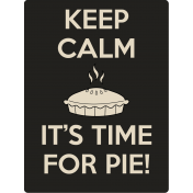 It's A Pie Time: Journal Card 01