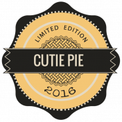 It's A Pie Time: Word Art Badge 04