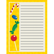 Elfie Xmas: Journal Card- Candy