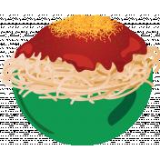 Elfie Xmas: Spaghetti, Bowl