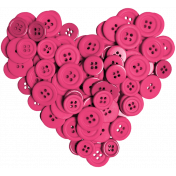 All About Hearts 2017: Button Heart 01, Dark Pink