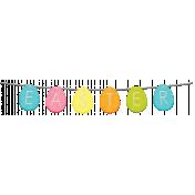 Easter 2017: Felt Banner 01