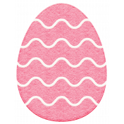 Easter 2017: Egg with Wavy Lines, Felt
