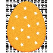 Easter 2017: Egg with Stars, Felt