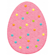 Easter 2017: Egg with Dots, Felt