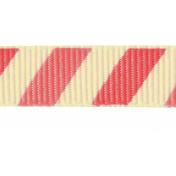 Summer Essence 2017: Ribbon 03, Coral/Cream Stripes