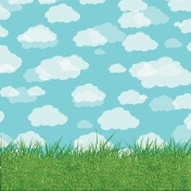 Easter 2017: Paper Grass & Sky
