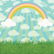 Easter 2017: Paper Grass/Sky/Rainbow/Sunburst