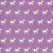 BYB Unicorn Paper, Unicorns on Purple 01