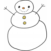 January 2020 Designer Challenge- Snowman, Light Color