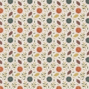 Rustic Wedding Paper, Autumn Florals 01
