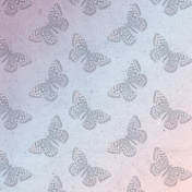 May 2021 Blog Train: Spring Flowers Patterned Paper Ombre Faded Butterflies
