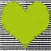 Cardboard Heart Green