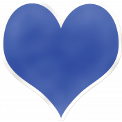 Cutout/Sticker Heart Blue