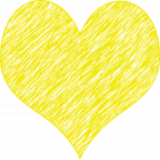 Scribble Heart Yellow