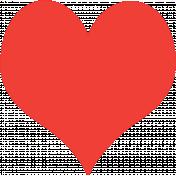 Stencil Heart Red