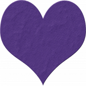 Satin Stitch Heart Purple
