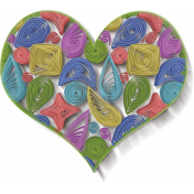 Multicolored Quilled Heart