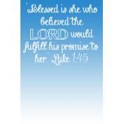 "4""X6"" Pocket Card: Inspiration 02 (Luke 1:45)"