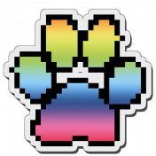 Pixels Stickers: Paw Print