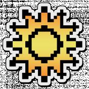 Pixels Stickers: Sun