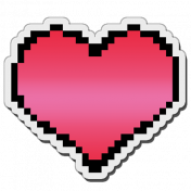 Pixels Stickers: Heart