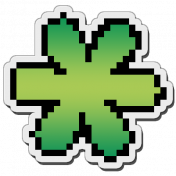 Pixels Stickers: Flower 1