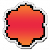 Pixels Stickers: Flower 2