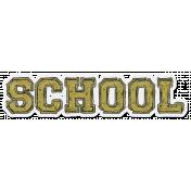 Back To School: Glitter Sticker- School 02