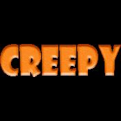 Halloween 2015: Word Art- Creepy 01