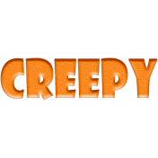 Halloween 2015: Word Art- Creepy 01