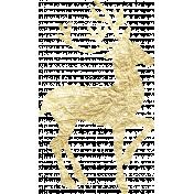 Gold Leaf Foil: Deer 02