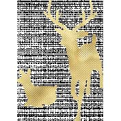 Gold Leaf Foil: Deer 04