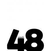 Weekly Pocket Card 3x4 48