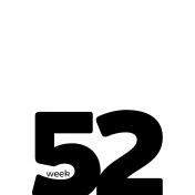 Weekly Pocket Card 3x4 52