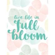 Full Bloom Journal Card 06 3x4