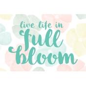 Full Bloom Journal Card 06 4x6