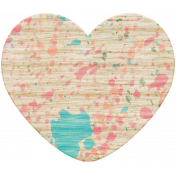 Spring Fever Wood Heart 1