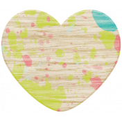Spring Fever Wood Heart 2