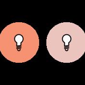 Spring Fever Print Icons Lightbulb