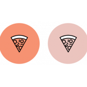 Spring Fever Print Icons Pizza