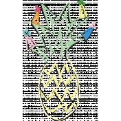 Birthday Illustration Pineapple 03