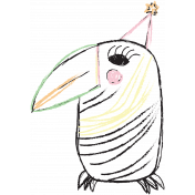 Birthday Illustration Bird 02