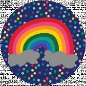 Rainbow Print Circle1
