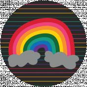 Rainbow Print Circle2