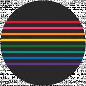 Rainbow Print Circle4