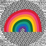 Rainbow Print Circle5