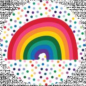 Rainbow Print Circle6