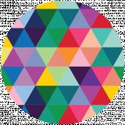 Rainbow Print Circle7
